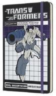 Moleskine taccuino con copertina rigida a righe large. Transformers Megatron. Limited edition.