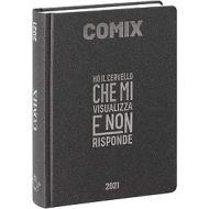 Comix 2020-2021. Diario agenda 16 mesi mini. Carbone