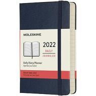Moleskine 12 mesi - Agenda giornaliera blu zaffiro - Pocket copertina rigida 2022