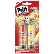 Set 2 pezzi colla stick Pritt Glitter 20g
