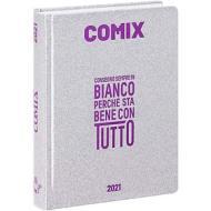 Comix 2020-2021. Diario agenda 16 mesi mini. Argento glitter
