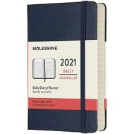 Moleskine 12 mesi - Agenda giornaliera blu zaffiro - Pocket copertina rigida 2021