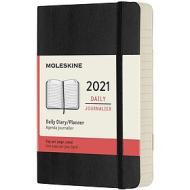 Moleskine 12 mesi - Agenda giornaliera nero - Pocket copertina morbida 2021