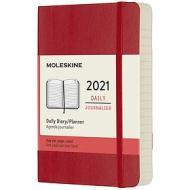 Moleskine 12 mesi - Agenda giornaliera rosso scarlatto - Pocket copertina morbida 2021
