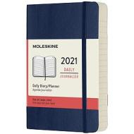 Moleskine 12 mesi - Agenda giornaliera blu zaffiro - Pocket copertina morbida 2021