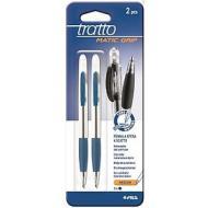 Confezione 2 penne a sfera a scatto Tratto Matic Grip