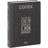 Comix 2020-2021. Diario agenda 16 mesi standard. Carbone