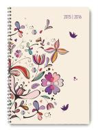 Diario settimanale 2016 Collegetimer Flower Art A5 Wire-O
