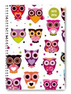 Diario settimanale 2016 Collegetimer Owls A5 Rilegatura a spirale