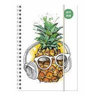 Diario agenda 16 mesi spiralata settimanale 2019-2020 Collegetimer A5 Pineapple