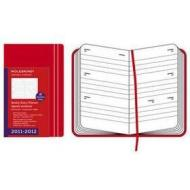 Moleskine 18 mesi - Weekly Diary - Pocket - Copertina rigida rossa 2011-2012 Dimensioni 9 x 14 cm