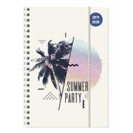 Diario agenda 16 mesi spiralata settimanale 2019-2020 Collegetimer A5 Summer Party