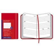 Moleskine 18 mesi - Weekly Diary - Copertina rigida rossa 2011-2012 Dimensioni 13 x 21 cm