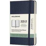 Moleskine 18 mesi - Agenda settimanale blu zaffiro - Pocket copertina rigida 2020-2021
