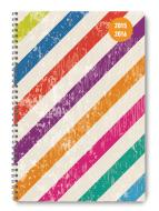 Diario settimanale 2016 Collegetimer Colour Stripes A5 Rilegatura a spirale