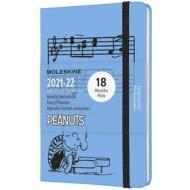 Moleskine 18 mesi - Agenda settimanale Limited Edition Peanuts blu - Pocket copertina ### 2021-2022