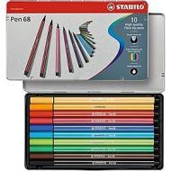 Confezione 10 pennarelli Pen 68 con scatola in metallo