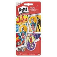 Confezione 3 correttori a nastro riscrivibile Pritt Mini Roller