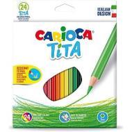 Confezione 24 matite colorate Tita