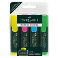 Confezione 4 evidenziatori ricaricabili Textliner colori assortiti