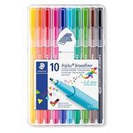 Set 10 penne con punta ad ago Triplus Broadliner