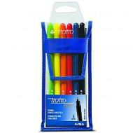 Confezione 6 penne Tratto Pen colorate