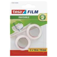 Confezione 2 rotoli di nastro adesivo Tesafilm Invisible