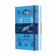Moleskine 18 mesi - Agenda giornaliera Limited Edition Alice in Wonderland blu - Large copertina rigida 2019-2020