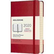 Moleskine 12 mesi - Agenda giornaliera rosso - Pocket copertina rigida 2020