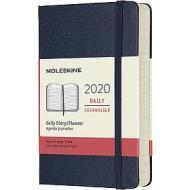 Moleskine 12 mesi - Agenda giornaliera blu - Pocket copertina rigida 2020