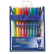 Confezione 10 penne colorate cancellabili Tratto Cancellik
