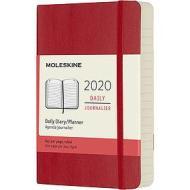 Moleskine 12 mesi - Agenda giornaliera rosso - Pocket copertina morbida 2020