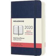 Moleskine 12 mesi - Agenda giornaliera blu - Pocket copertina morbida 2020