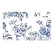 Agenda 2019 orizzontale settimanale 12 mesi Ladytimer Pad Flowers