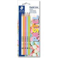 Confezione 5 matite in grafite HB Pastel Line
