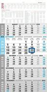 Calendario da muro olandese cinque mesi verticale 2018