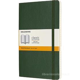 Moleskine - Taccuino Classic a righe verde - Large copertina morbida