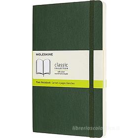 Moleskine - Taccuino Classic pagine bianche verde - Large copertina morbida