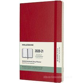 Moleskine 18 mesi - Agenda settimanale rosso scarlatto - Large copertina morbida 2020-2021