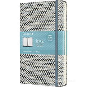 Moleskine - Taccuino Blend Limited Collection a righe blu - Large copertina rigida in tessuto