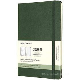 Moleskine 18 mesi - Agenda settimanale verde mirto - Large copertina rigida 2020-2021