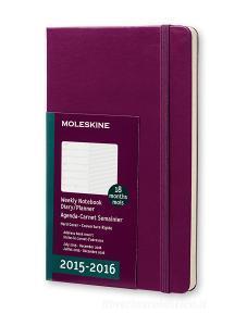 Moleskine 18 mesi - Agenda settimanale notebook – Large - Copertina rigida viola 2015 – 2016