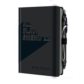 All Black Smemo 2022. Diario 12 mesi settimanale con penna in omaggio