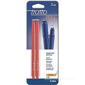 Confezione 2 penne Tratto Pen con punta media