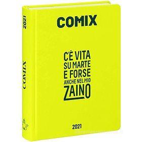 Comix 2020-2021. Diario agenda 16 mesi mini. Giallo neon