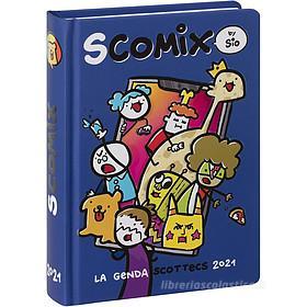 Comix 2020-2021. Diario agenda 16 mesi medium Scottecs by Sio. Blu