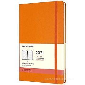 Moleskine 12 mesi - Agenda giornaliera arancio cadmio - Large copertina rigida 2021