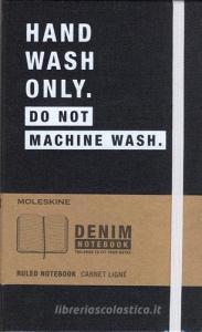Taccuino Moleskine large a righe. Edizione limitata Denim: Hand wash only. Do not machine wash