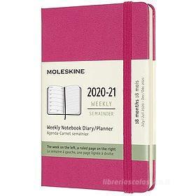 Moleskine 18 mesi - Agenda settimanale rosa bouganvillea - Pocket copertina rigida 2020-2021