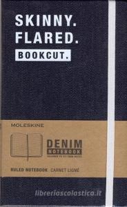 Taccuino Moleskine large a righe. Edizione limitata Denim: Skinny. Flared. Bookcut